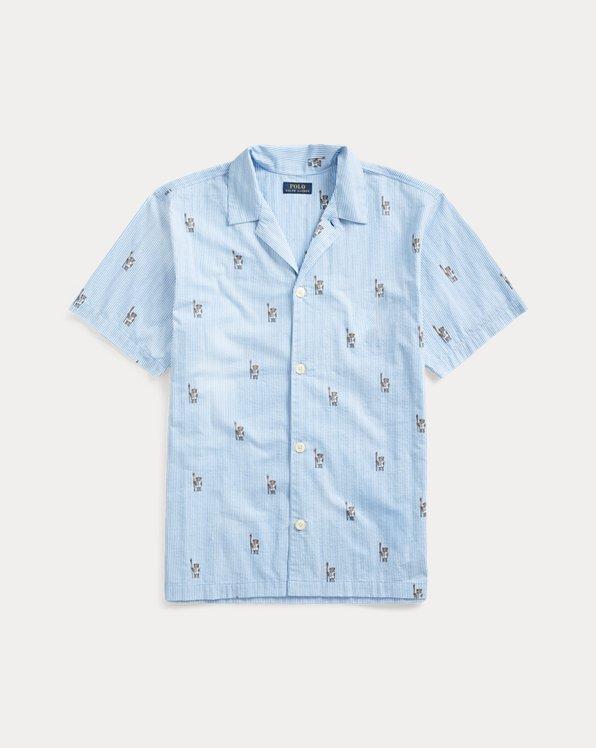 Polo Bear & Crest Pajama Shirt