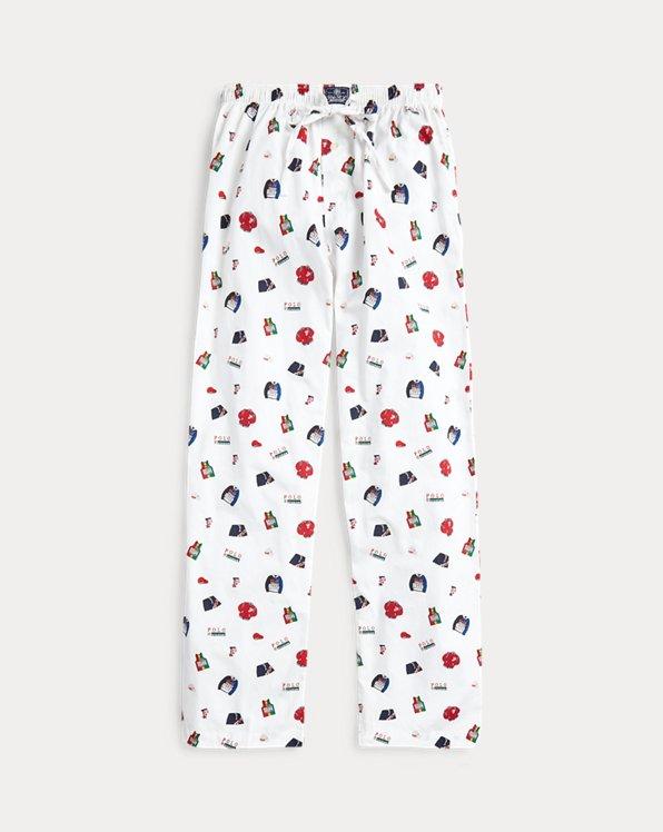 Novelty-Print Pajama Pant