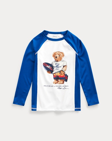 Surfer Bear Stretch Rash Guard