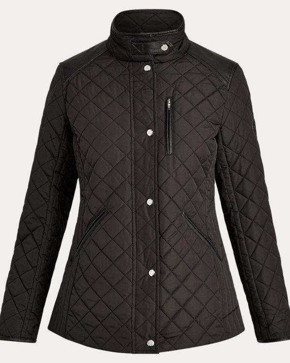 Quilted Mockneck Jacket
