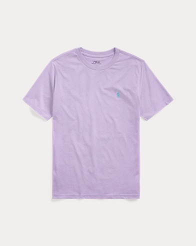 폴로 랄프로렌 보이즈 티셔츠 Polo Ralph Lauren Cotton Jersey Crewneck Tee,English Lavender