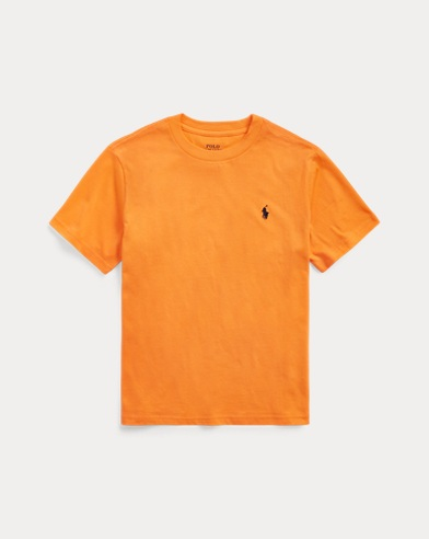 폴로 랄프로렌 보이즈 티셔츠 Polo Ralph Lauren Cotton Jersey Crewneck Tee,Thai Orange
