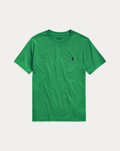 폴로 랄프로렌 보이즈 티셔츠 Polo Ralph Lauren Cotton Jersey Crewneck Tee,Lifeboat Green