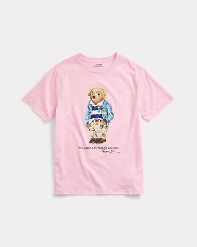 Maglietta in jersey di cotone Preppy Bear