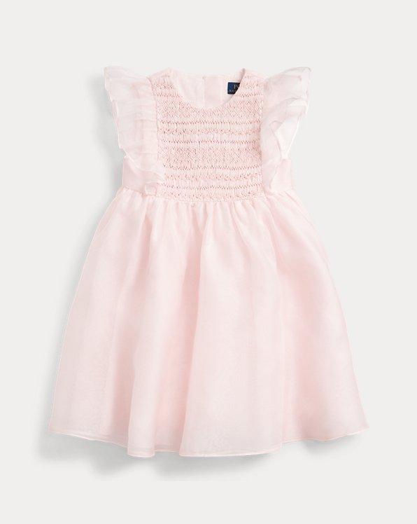 Smocked Silk Organza Dress