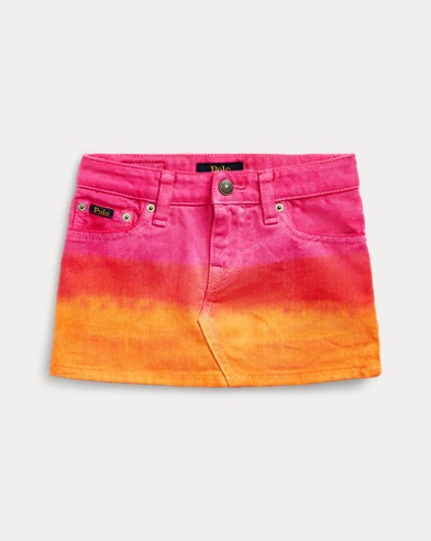 Dip-Dyed Denim Skirt