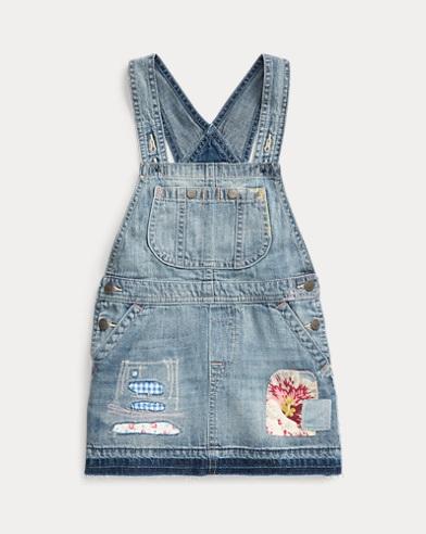 Cotton Denim Overall Dress