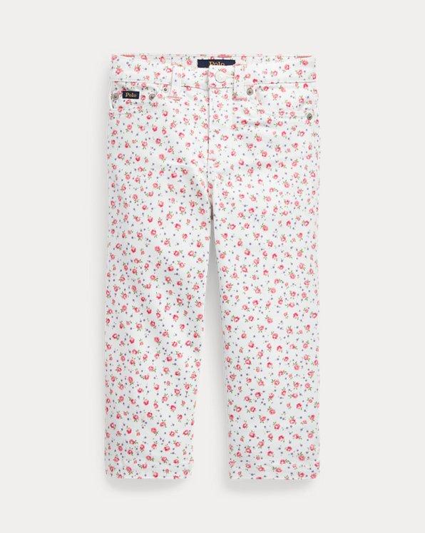 Floral Wide-Leg Crop Jean