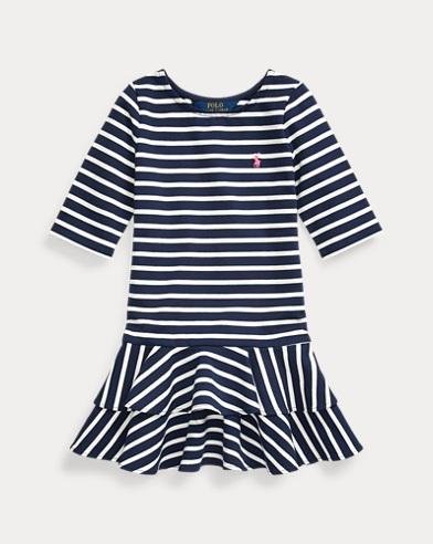 Striped Stretch Jersey Dress