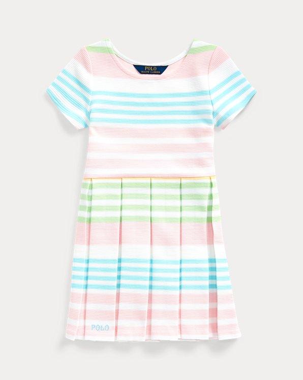 Striped Ottoman-Rib Dress