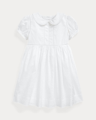 Ladder-Trim Cotton Dress