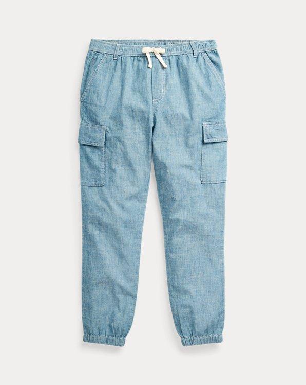Cotton Chambray Cargo Pant