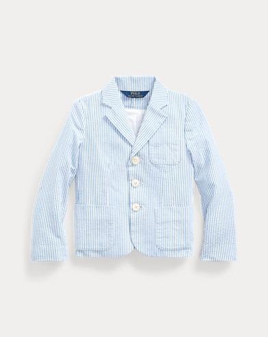 Cotton Seersucker Blazer
