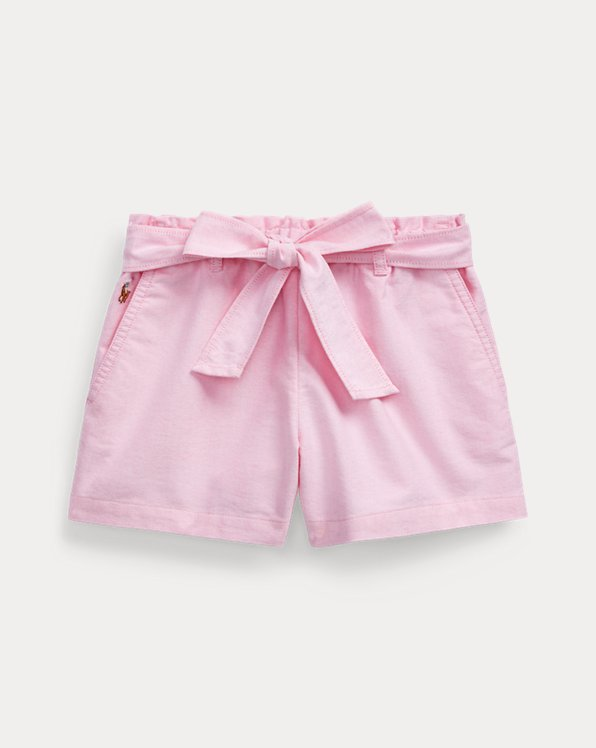 Belted Cotton Oxford Short