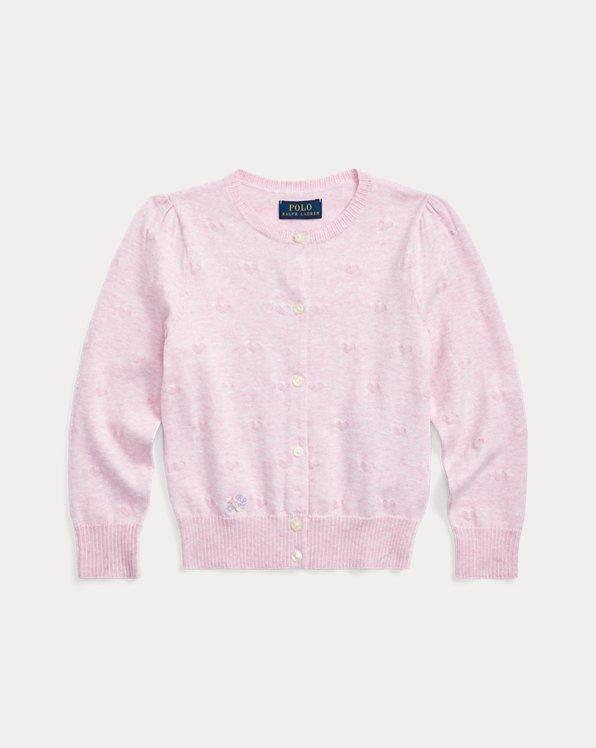 Knit-Heart Cotton Cardigan