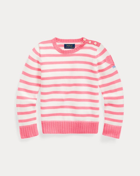 Heart-Pocket Cotton Sweater