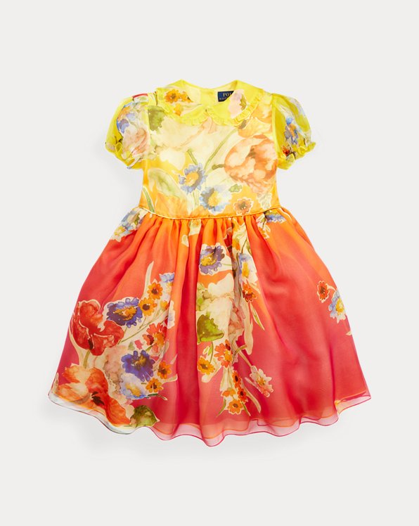 Floral Silk Organza Dress