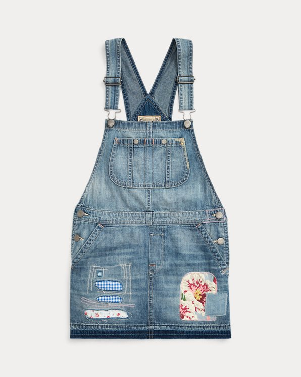 Cotton Denim Overall Dress