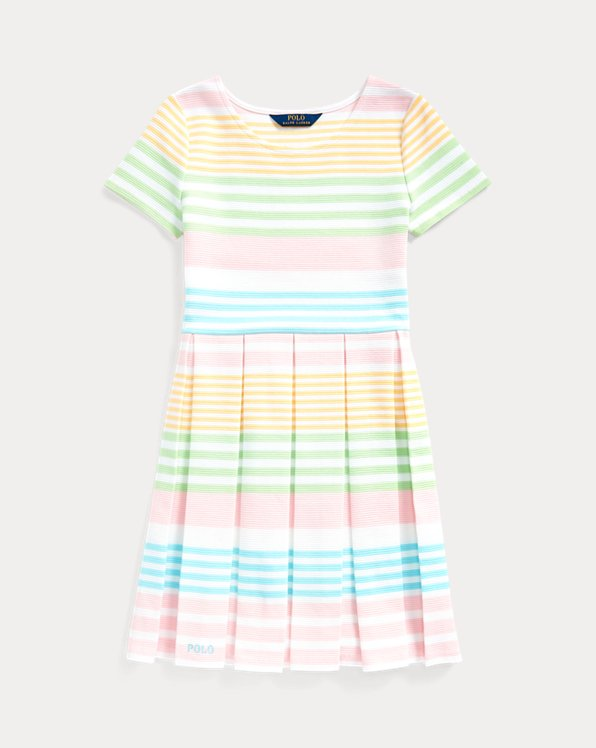 Striped Ottoman-Rib Dress