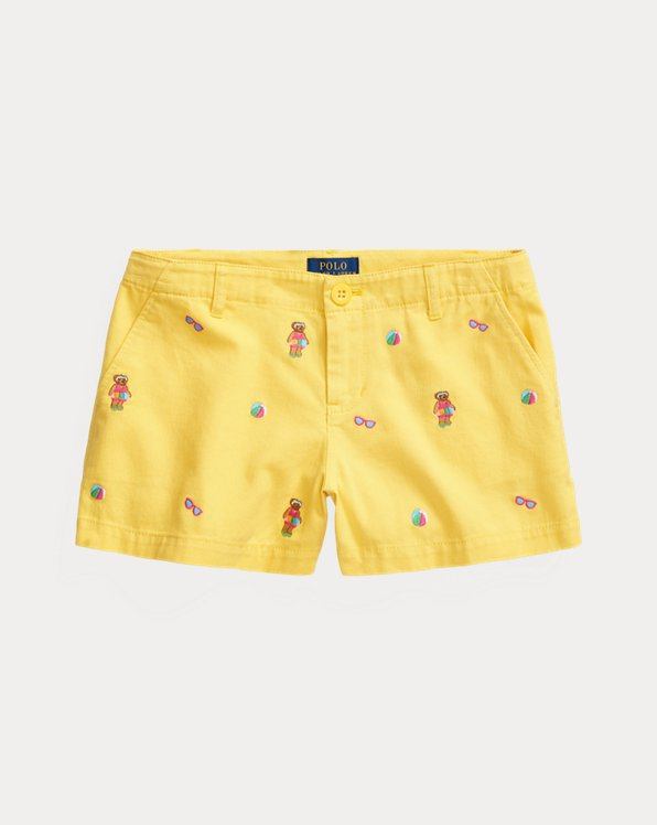 Short Polo Bear en chino de coton