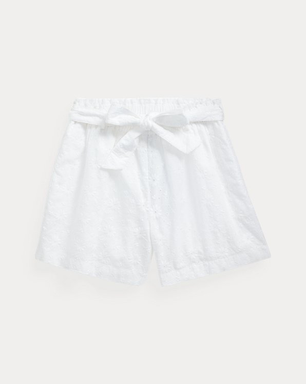 Eyelet Cotton Paperbag Short