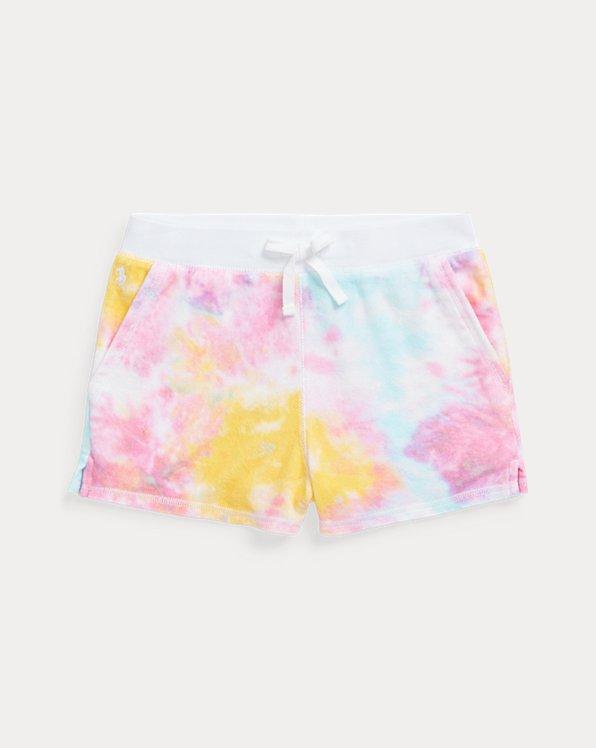 Pantalones cortos de felpa con tie-dye