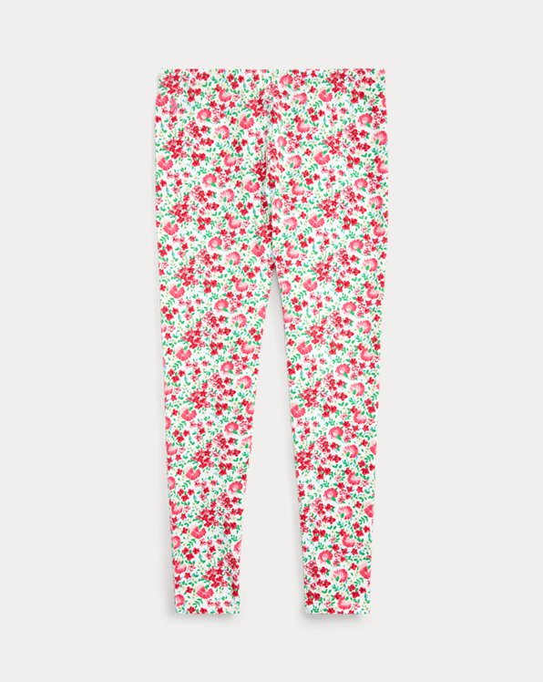 Floral Stretch Jersey Legging