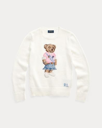 Jersey de algodón con Polo Bear de primavera