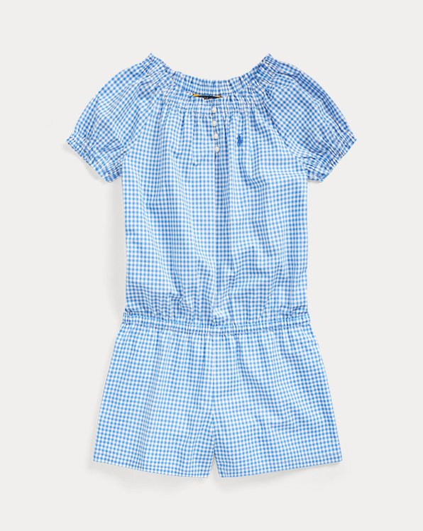Gingham Cotton Poplin Romper
