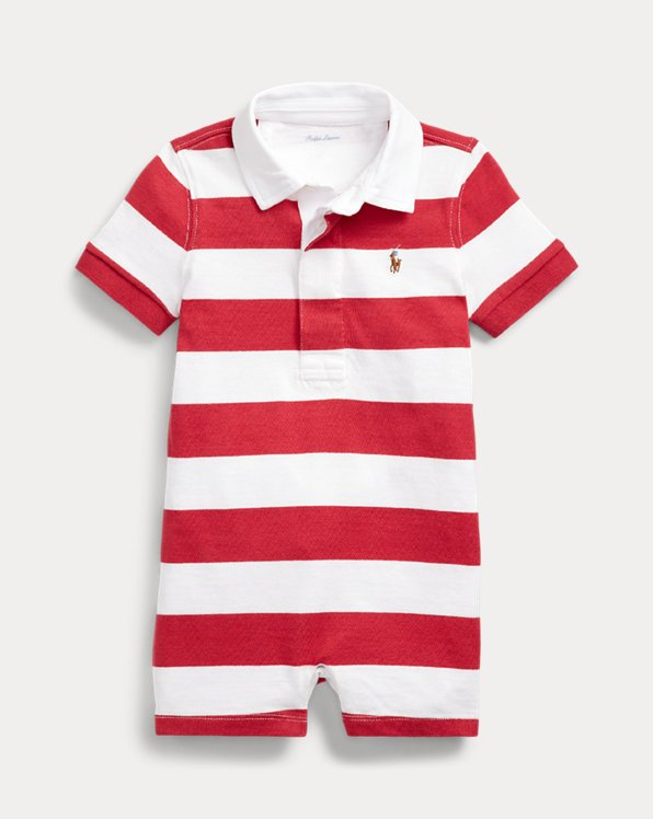 Striped Cotton Rugby Shortall
