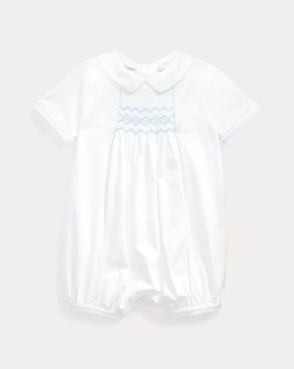 Hand-Smocked Bubble Shortall