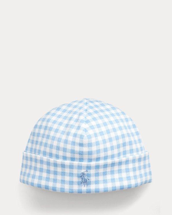 Chapeau en interlock de coton vichy