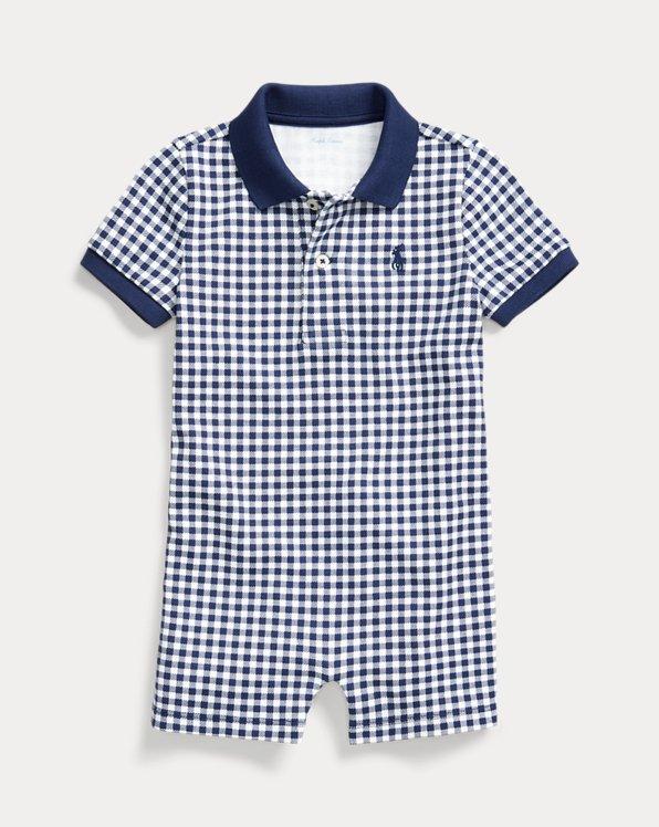 Gingham Cotton Polo Shortall