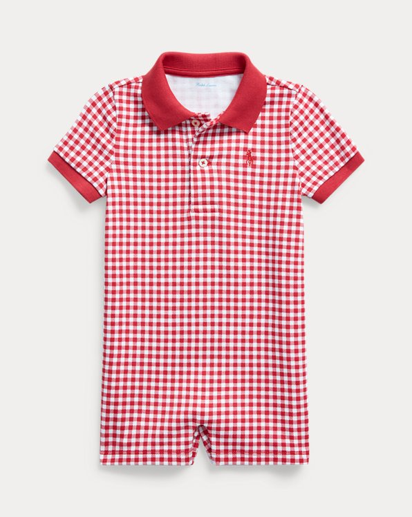 Gingham Cotton Polo Shortall