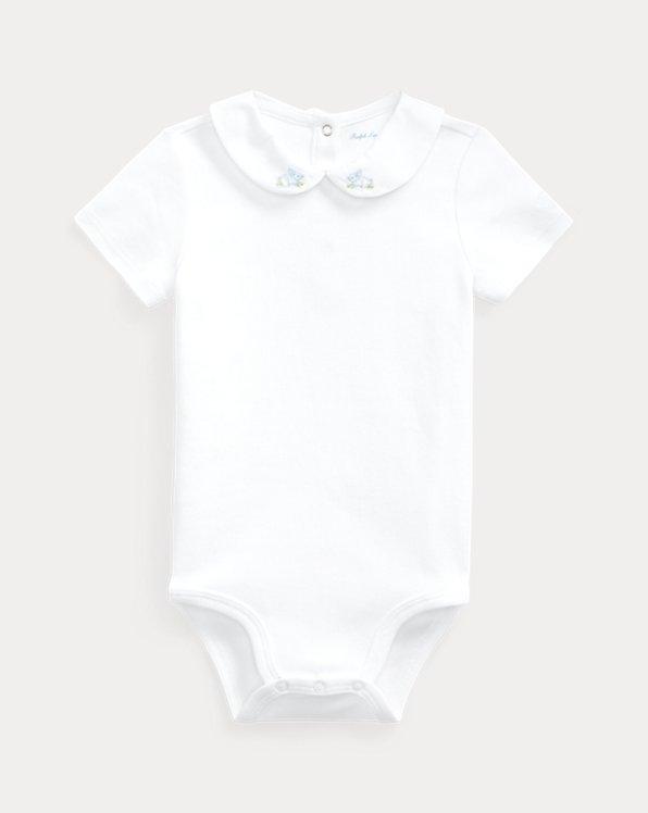 Body per neonato in cotone ricamato