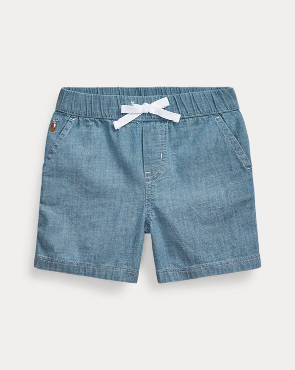 Cotton Chambray Pull-On Short