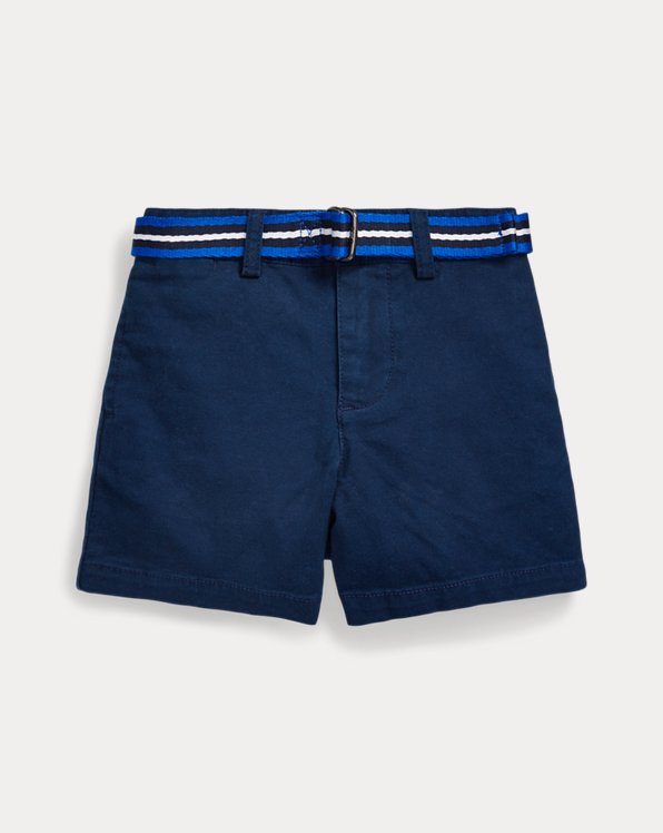 Belted Cotton Chino Short