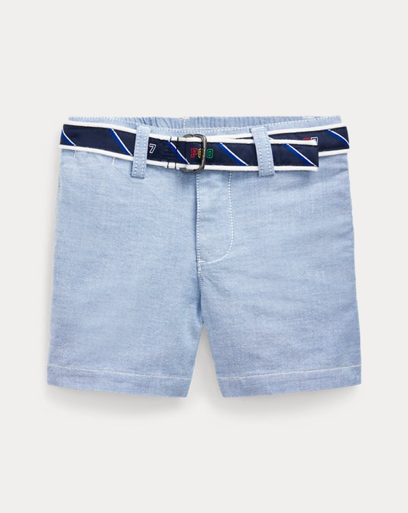 Belted Stretch Oxford Short