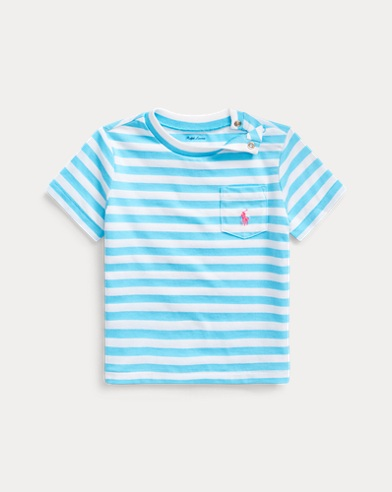Striped Cotton-Blend Tee
