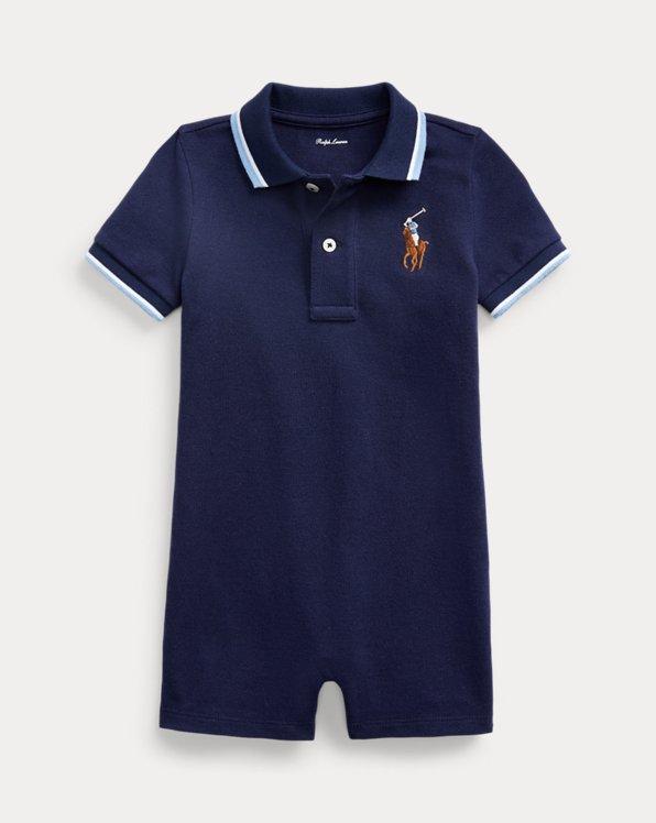 Combishort Polo en coton piqué