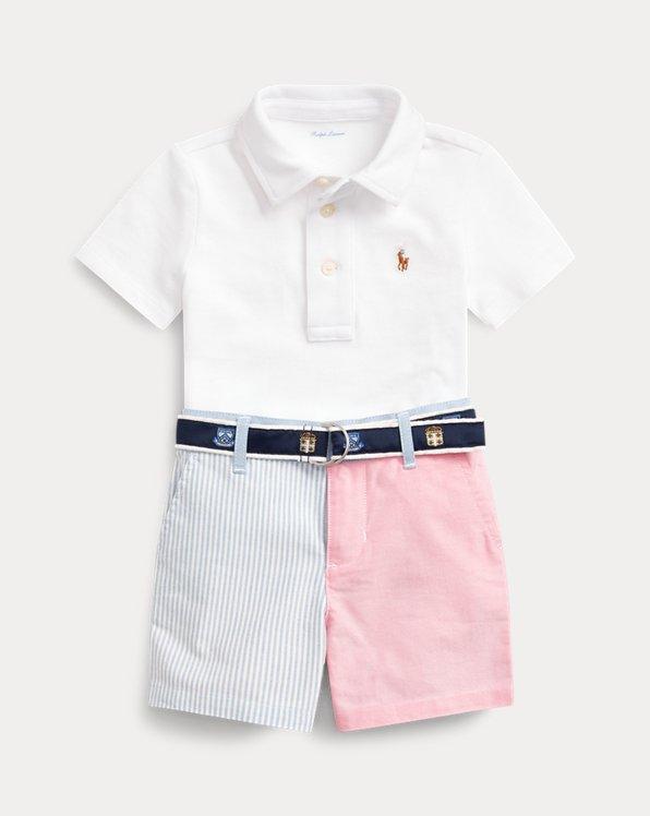 Ensemble polo, ceinture et short