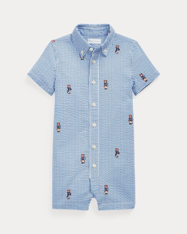 Polo Bear Seersucker Shortall