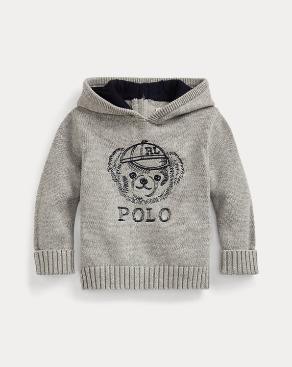 Polo Bear Hooded Jumper