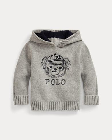 Polo Bear Hooded Jumper