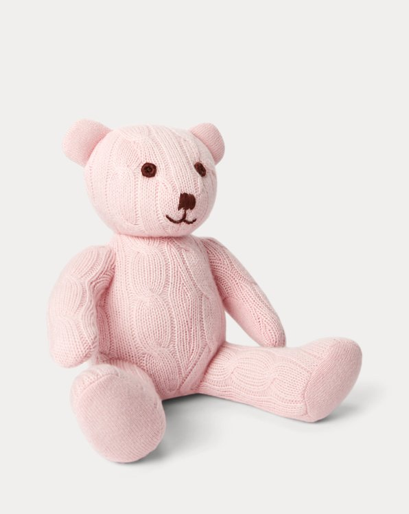 Small Cable Cashmere Bear