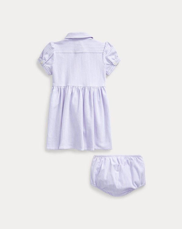 Striped Oxford Dress & Bloomer