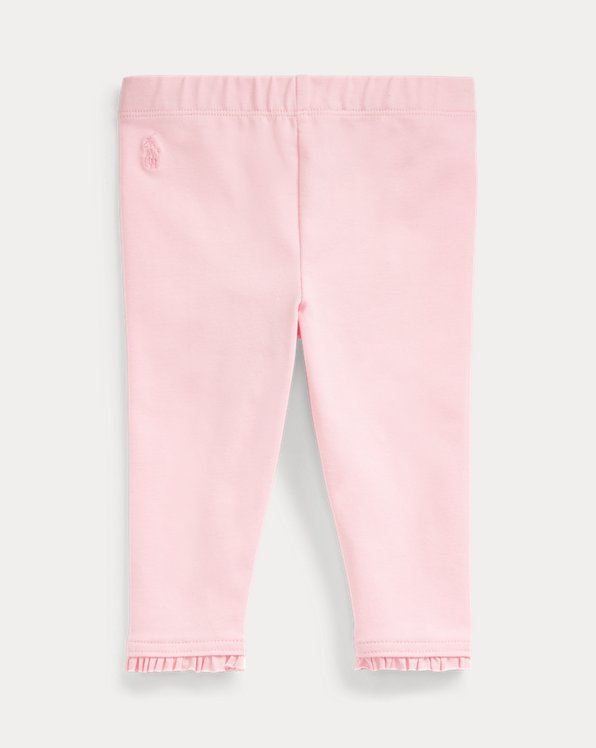 Ruffled Stretch Cotton Legging
