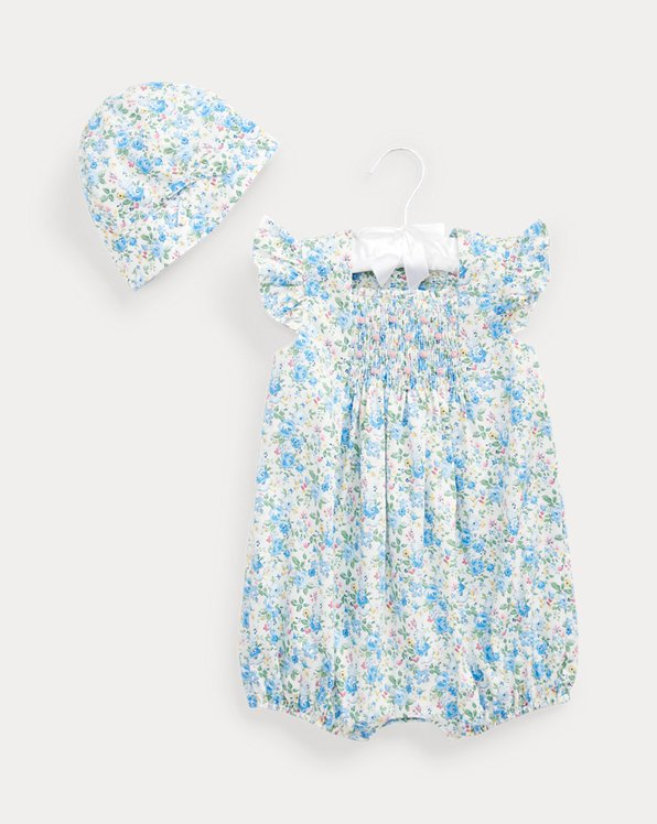 Floral Shortall & Hat Set