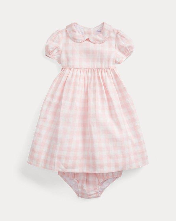 Gingham Linen Dress & Bloomer