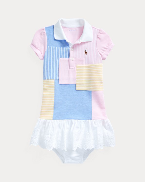 Robe polo et bloomer en patchwork
